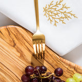 Golden Coral Linen Napkin Set