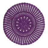 purple crochet placemat