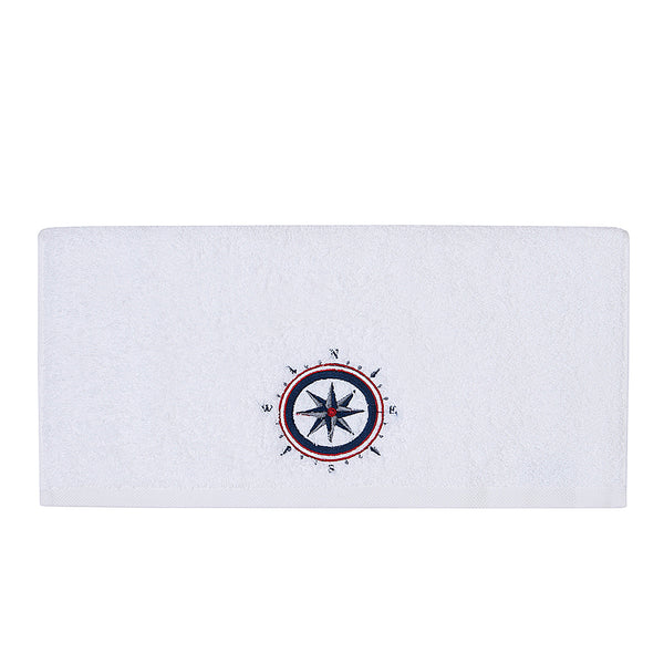 Embroidery Hand Towel Compass