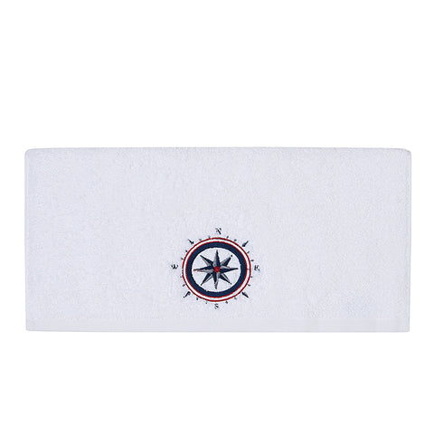 Embroidery Bath Towel Compass
