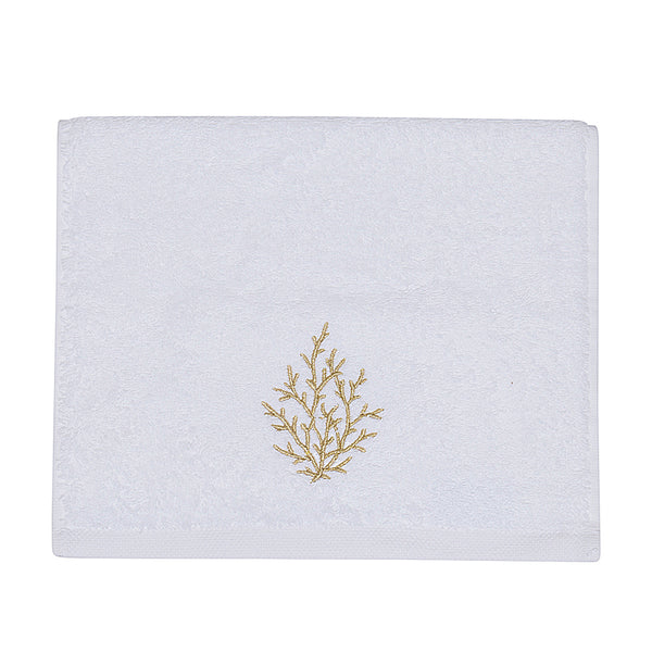 Embroidery Towel Gold Coral