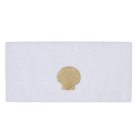 Embroidery Hand Towel Gold Shell