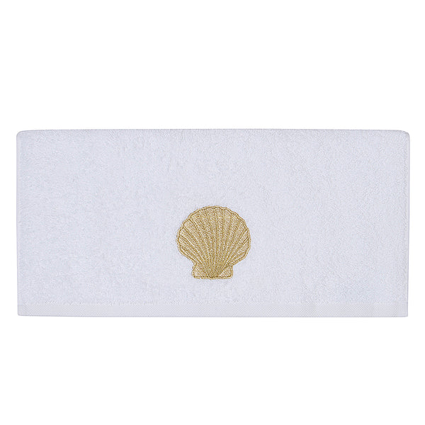 Embroidery Bath Towel Gold Shell
