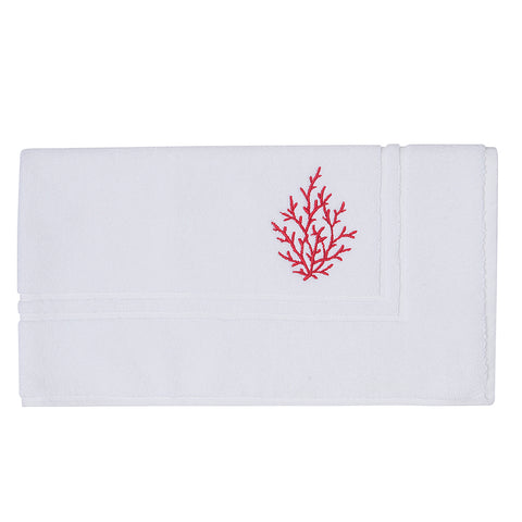 Embroidery Floor Mat Red Coral