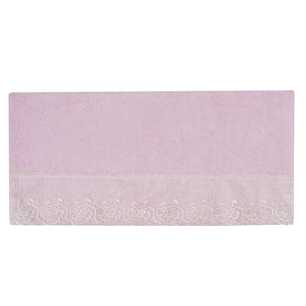 French Lace Hand Towel-Pink