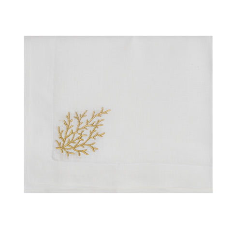 Gold Coral Table Cloth