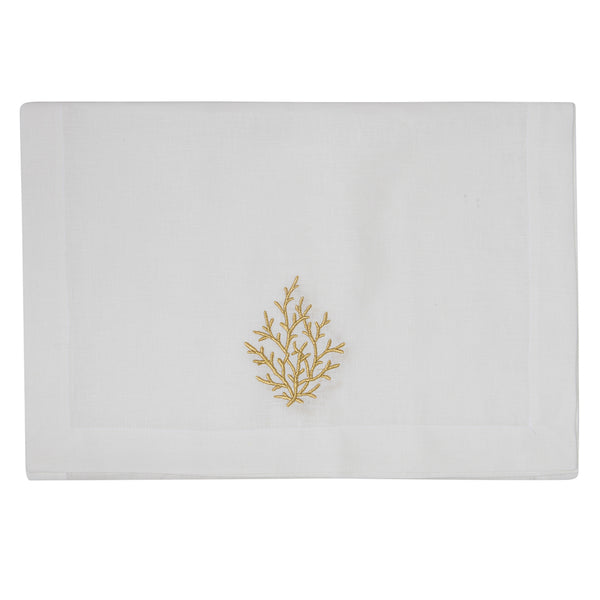 Golden Coral Runner Linen