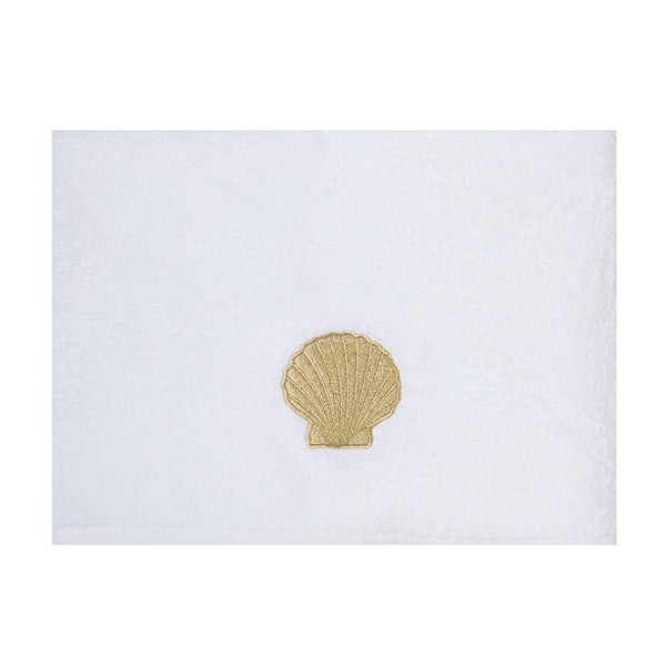 Embroidery Towel Gold Shell