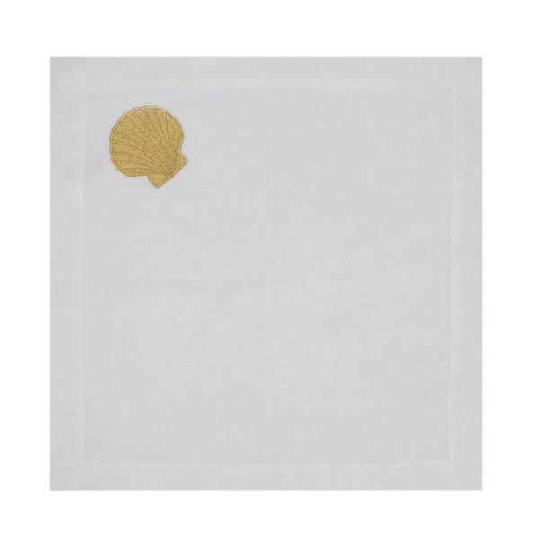 Golden Shell Linen Napkin Set