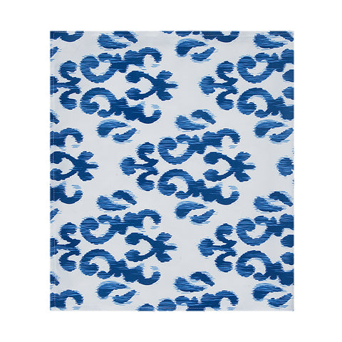 Blue Sky Table Runner Blue White