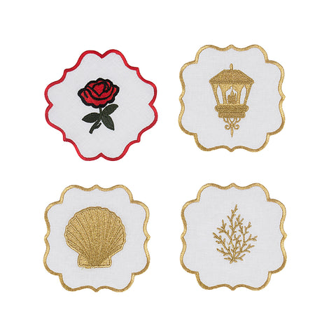 Golden Coral Coaster Set