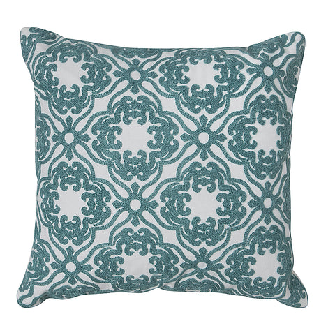 Teal Blue Woven Cushion