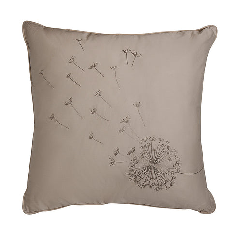 beige dandelion cushion