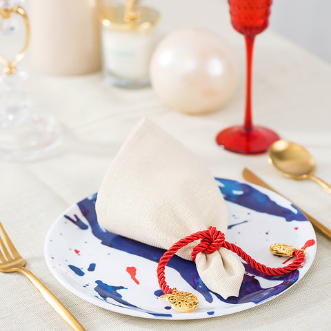 Gold Fish Napkin Holder - Red