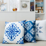 Icy Cushion White and Blue
