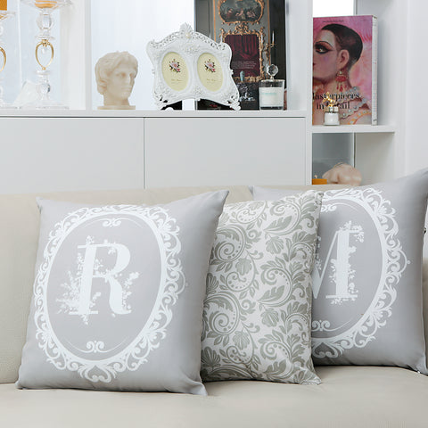 Signature Cushion Letter R