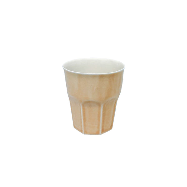 Fine Porcelain Artisan cup - Mini Amber Yellow