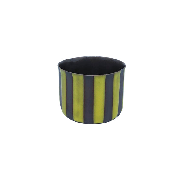 Fine Porcelain Artisan cup- Classic Medium Seal Yellow