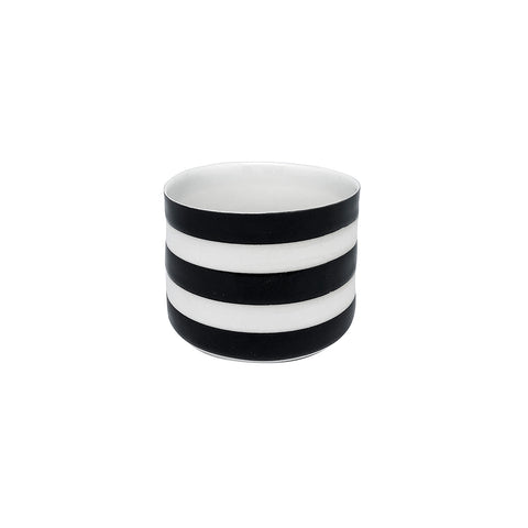 Fine Porcelain Artisan cup - Classic Medium White and Black