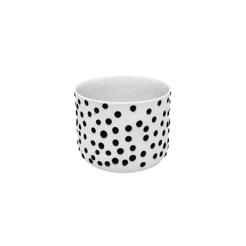 Fine Porcelain Artisan cup - Classic Medium White black