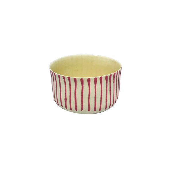 Fine Porcelain Artisan cup - Classic Small Yellow Pink