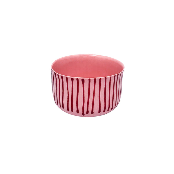 Fine Porcelain Artisan cup - Classic Small Somon Scarlet