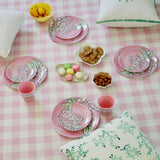 designer melamin small plate set rose