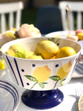 Blue Lemonade Standing Bowl