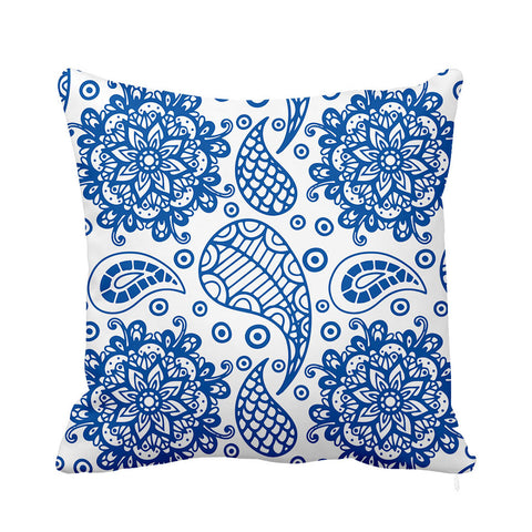 Heavenly Cushion Blue and White