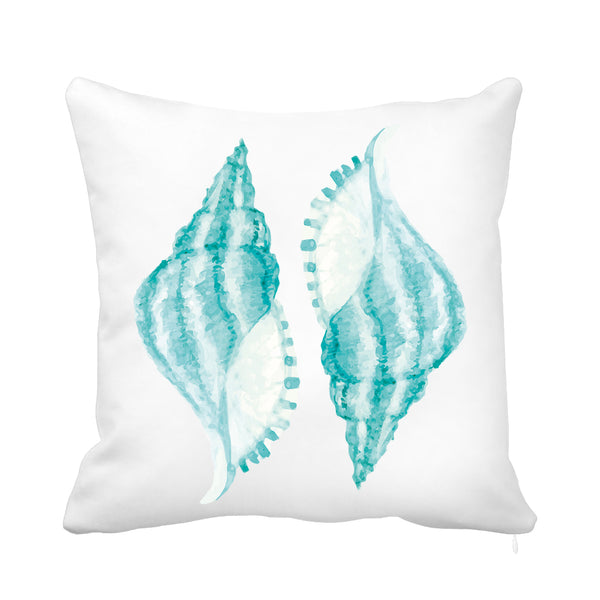 Turquoise Shell Cushion