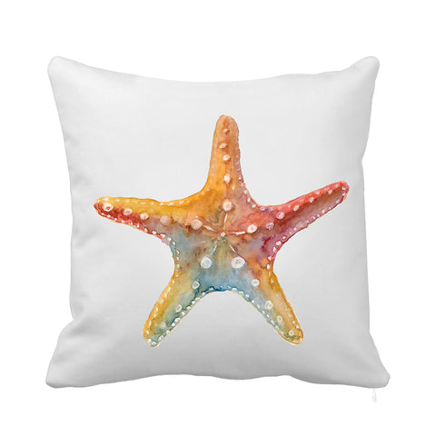 Orange Starfish Cushion