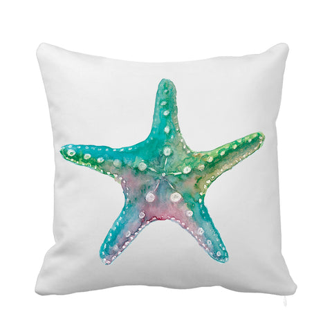 Turquoise Starfish Cushion