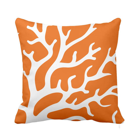 Orange Coral Cushion