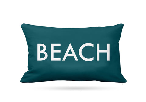 Teal Beach Cushion