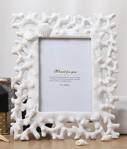 White Shell Photo Frame