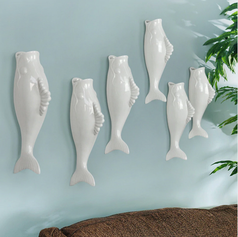 Fish Wall Decor Vase
