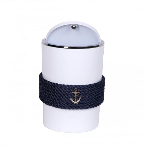 Nautical Rope Waste Bin-White Blue