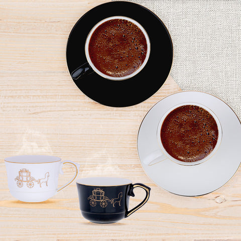 Black Horse Coffee Cups-Set of 6