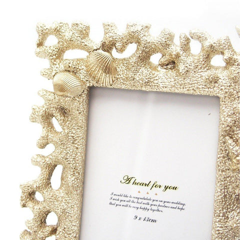Gold Shell Photo Frame