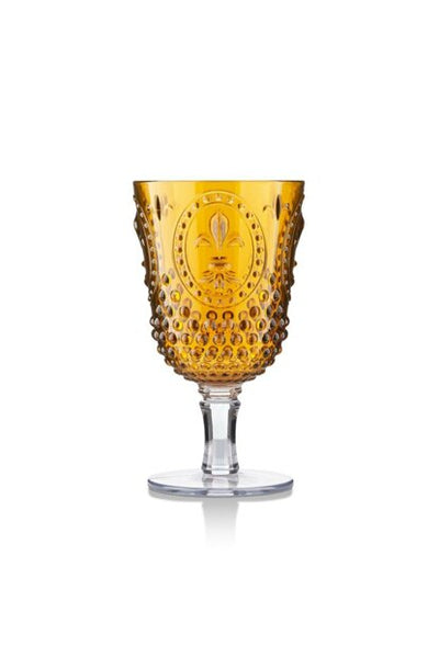 his large wine glass is crafted from acrylic making it ideal for yachts and al fresco dining. Effortlessly chic with the look and feel of glass. Tall with a broad bowl, made of BPA-free safe material.