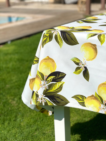 Lemon Leaves Table Cloth