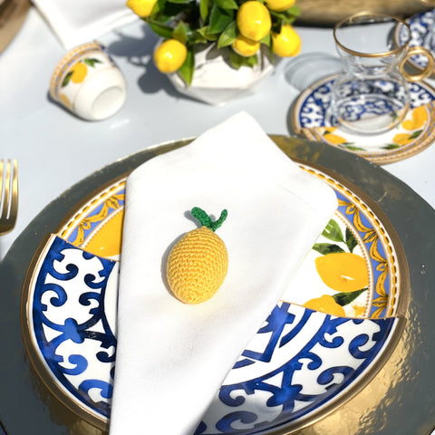 Lemon Crochet Napkin
