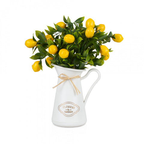 Artificial Lemon Plant in Vase