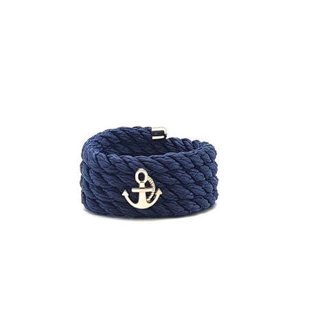 Nautical Rope Napkin Ring Set of 6-Blue