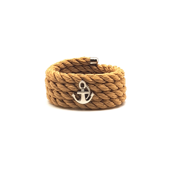 Nautical Rope Napkin Ring Set of 6-Beige