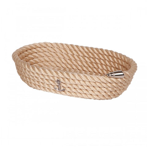 Nautical Rope Oval Basket-Cream