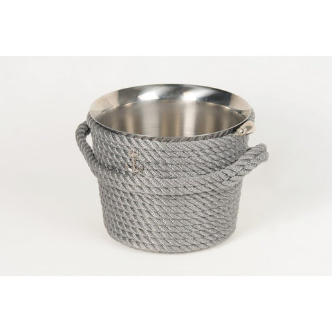 Nautical Champagne Bucket-Silver