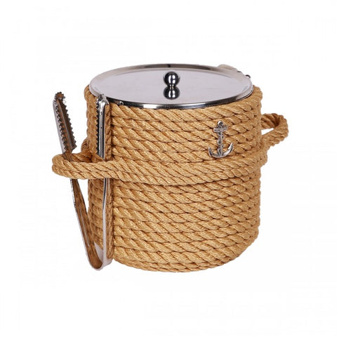 Nautical Ice Bucket-Beige