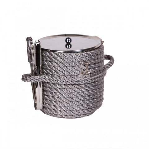 Nautical Ice Bucket-Silver