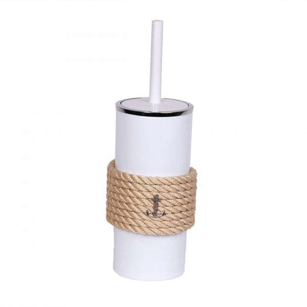 Nautical Rope Bathroom Brush-White Cream